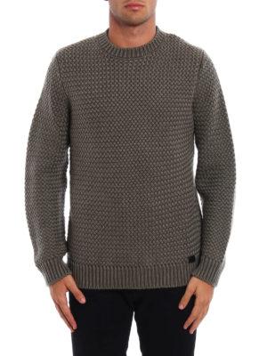 Tod'S: crew necks online - Basket stitch knit wool sweater