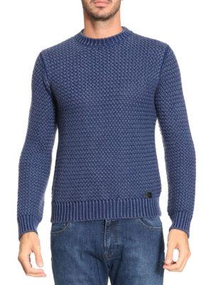 Tod'S: crew necks online - Woven basket knitted wool jumper
