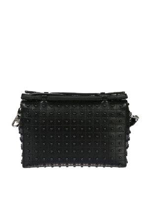 TOD'S: borse a tracolla - Mini bauletto in pelle nera Gommini Bag