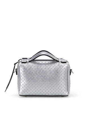 Tod'S: cross body bags - Don studded leather bowling bag