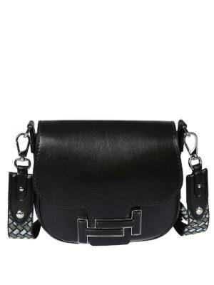 TOD S  borse a tracolla - Borsa a tracolla in pelle nera Double T. Tod S.  Double T black leather cross body bag 2f39168eeb484