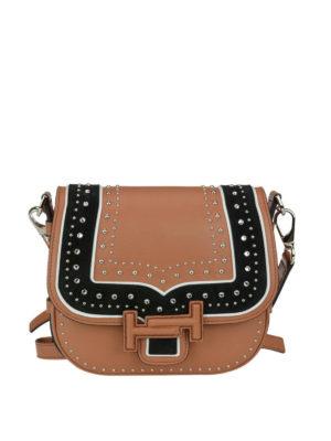TOD'S: borse a tracolla - Bandoliera mini Double T decorata