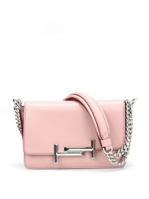 Tod'S: cross body bags - Double T mini leather crossbody bag