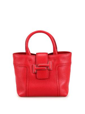 TOD S  borse a tracolla - Piccola tracolla in pelle rossa con Double T 3fe54746110