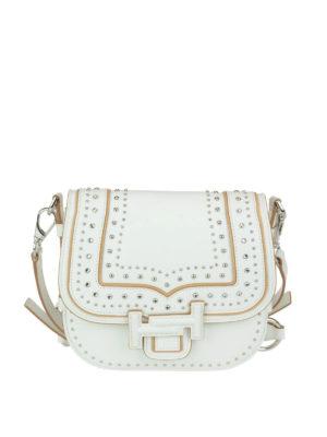 TOD'S: borse a tracolla - Bandoliera mini bianca Double T