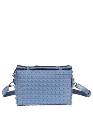 TOD'S: borse a tracolla - Mini bauletto azzurro Gommini Bag