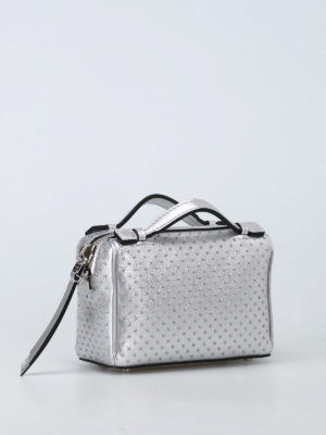 Tod'S: cross body bags online - Don studded leather bowling bag
