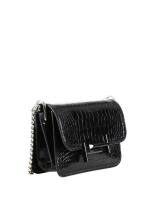Tod'S: cross body bags online - Double T croco print mini bag