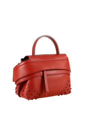 Tod'S: cross body bags online - Wave red leather small crossbody