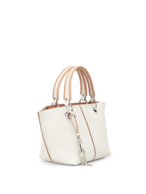 Tod'S: cross body bags online - White grained leather bag