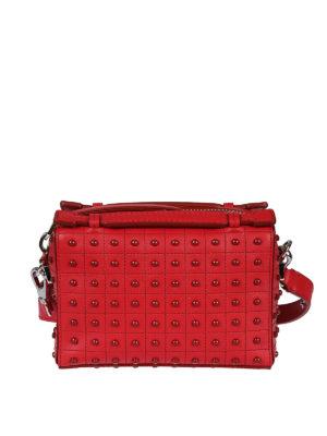 TOD'S: borse a tracolla - Mini bauletto Gommini Bag color ribes