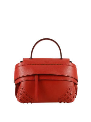 Tod'S: cross body bags - Wave red leather small crossbody
