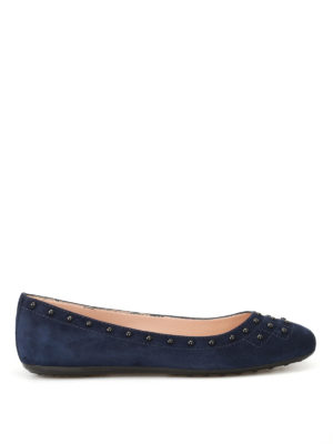 Tod'S: flat shoes - 71A suede ballerinas