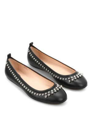 Tod'S: flat shoes - Beads leather flats