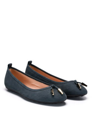 Tod'S: flat shoes - Laccetto suede flats
