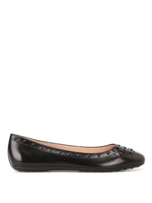 Tod'S: flat shoes - Leather flats with Gommini