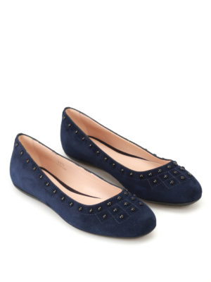 Tod'S: flat shoes online - 71A suede ballerinas