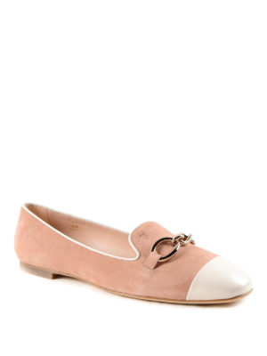 Tod'S: flat shoes online - Chain detail suede slippers