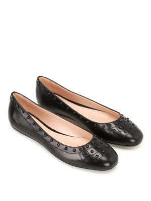 Tod'S: flat shoes online - Leather flats with Gommini