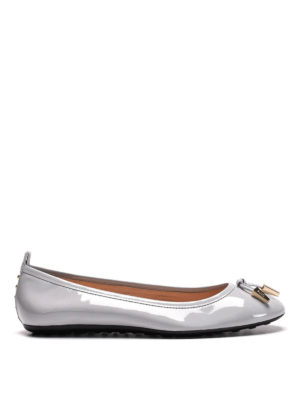 Tod'S: flat shoes - Studded patent leather ballerinas