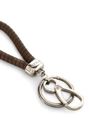 Tod'S: key holders online - Twist brown key holder