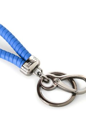 Tod'S: key holders online - Twist cornflower blue key holder