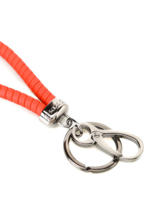 Tod'S: key holders online - Twist orange key holder