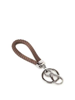 Tod'S: key holders - Twist brown key holder