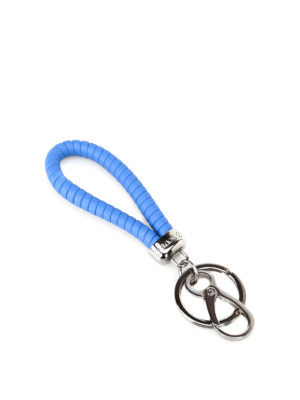Tod'S: key holders - Twist cornflower blue key holder