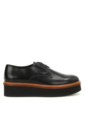 TOD'S: scarpe stringate - Stringate in pelle 3A