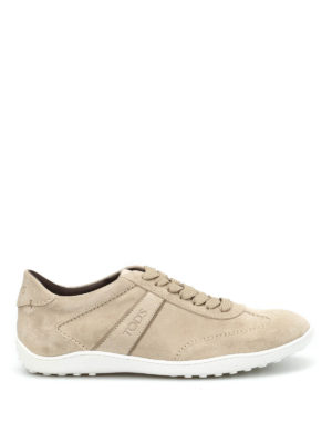 Tod'S: lace-ups shoes - Active suede lace-up sneakers