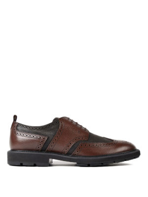 Tod'S: lace-ups shoes - Bicolor leather derby shoes
