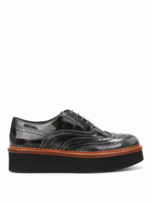 Tod'S: lace-ups shoes - Brogue faded leather lace-up shoes