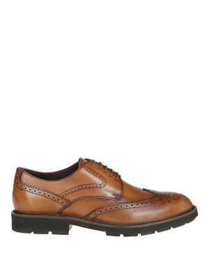TOD'S: scarpe stringate - Leather brogue shoes