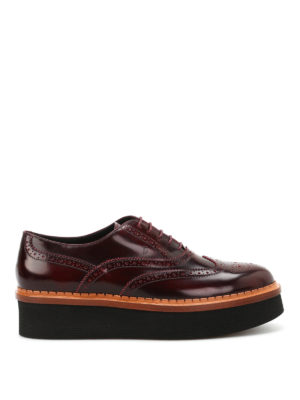 Tod'S: lace-ups shoes - Brogue lace-ups with chunky sole