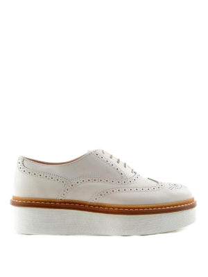 Tod'S: lace-ups shoes - Brogue lace-ups with platform