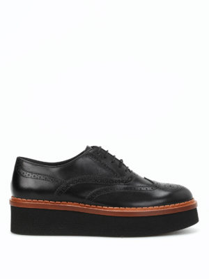 Tod'S: lace-ups shoes - Brogue leather lace-up shoes