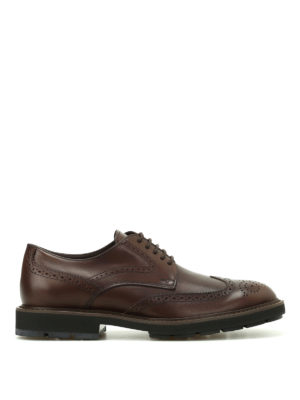 Tod'S: lace-ups shoes - Brown leather Derby brogues