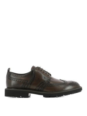Tod'S: lace-ups shoes - Brushed leather Derby brogue shoes