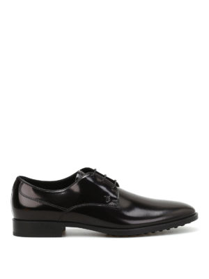 Tod'S: lace-ups shoes - Brushed leather derby shoes