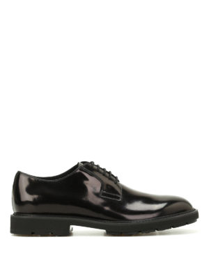 Tod'S: lace-ups shoes - Brushed leather lace-up shoes