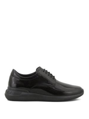 TOD'S: scarpe stringate - Stringate in pelle liscia