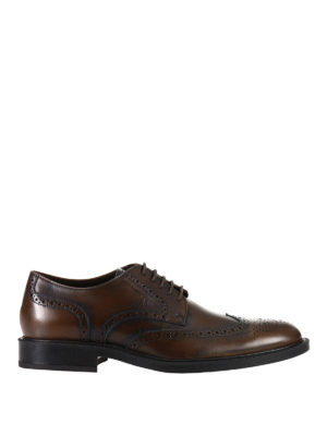 Tod'S: lace-ups shoes - Derby brogue polished shoes
