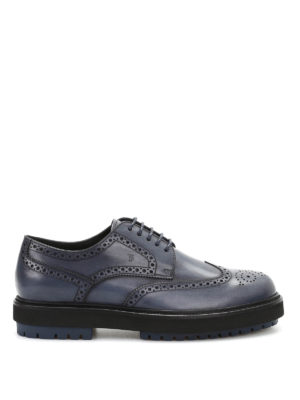 Tod'S: lace-ups shoes - Derby leather lace-up