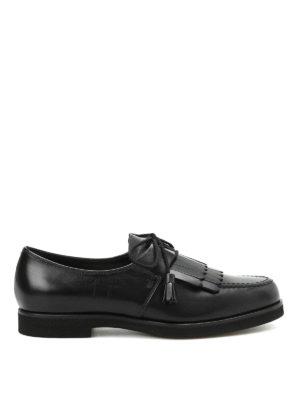 Tod'S: lace-ups shoes - Fringe detailed leather lace-ups