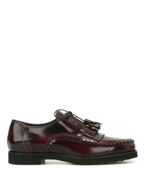 Tod'S: lace-ups shoes - Fringed Derby with tassels