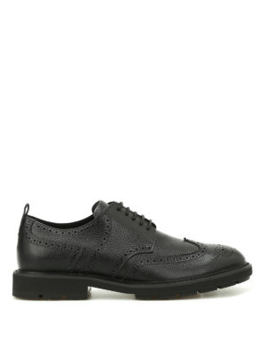 Tod'S: lace-ups shoes - Hammered leather Derby brogues
