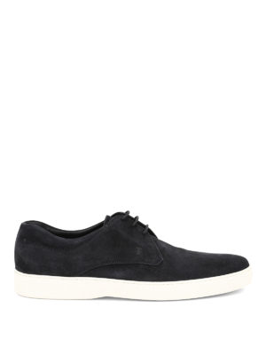 Tod'S: lace-ups shoes - Laced-up suede derby
