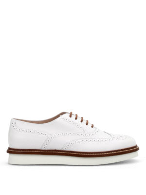Tod'S: lace-ups shoes - Leather brogue lace-ups