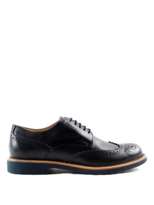Tod'S: lace-ups shoes - Leather Derby brogue shoes